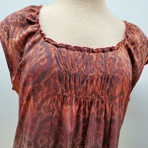 Access Red Burgundy sleeveless top xl